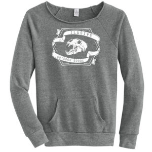 Womens Bear Skull Crew Neck