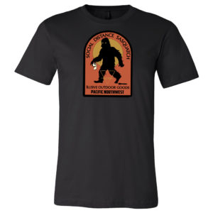Social Distance Sasquatch Mens T-shirt