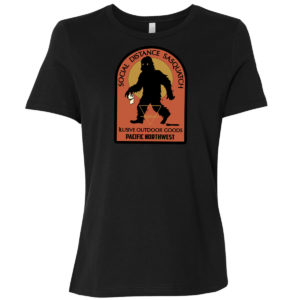 Social Distance Sasquatch Ladies T-shirt